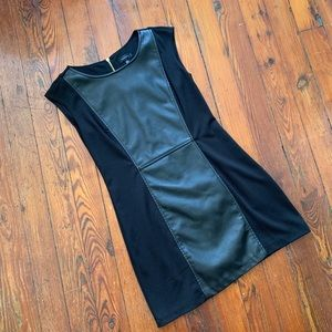 Spense Dresses - Black Spense Dress with Leather Front